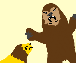 Chewbacca vs Lion