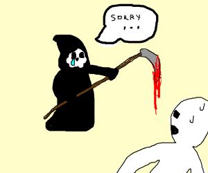 Grim reaper apologizes