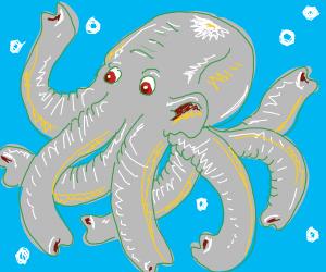Elephant/Octopus hybrid (Ele-pus?)