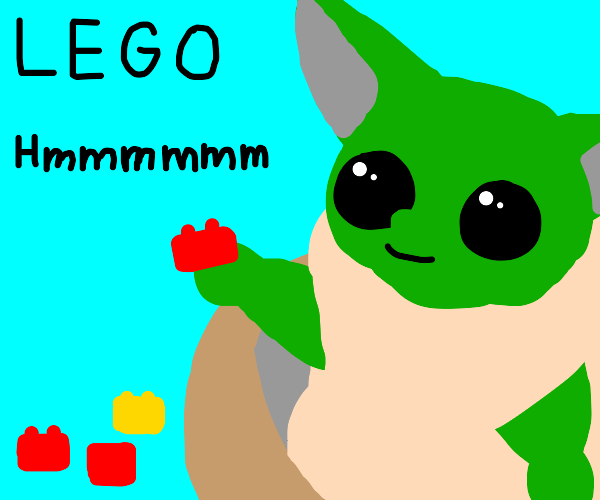 Build with legos, Yoda must