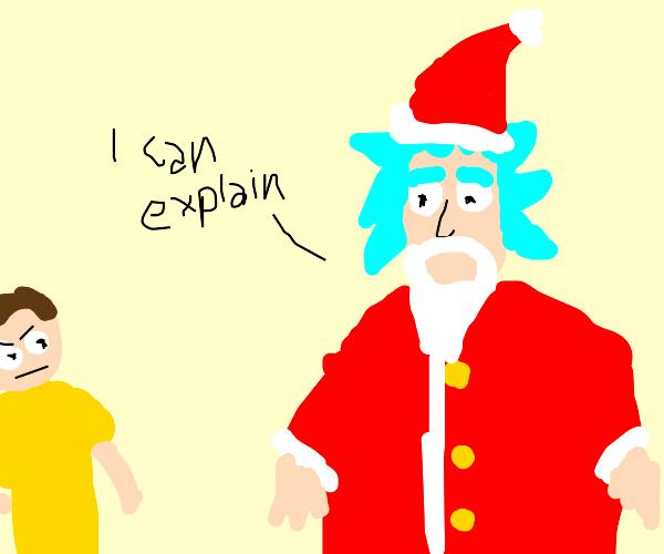I turned myself into Santa, Morty