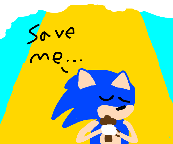 sonic asking to be saved