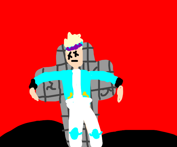 Anime boy died on the cross for our sins