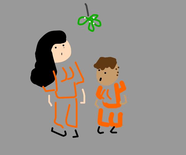 two prisoners under the mistletoe