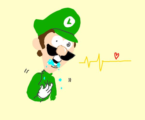 Luigi has a stroke