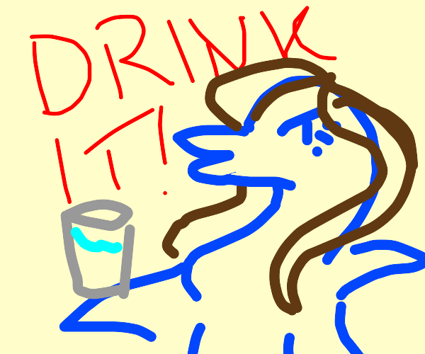 drink the water NOW (belle dolphin)