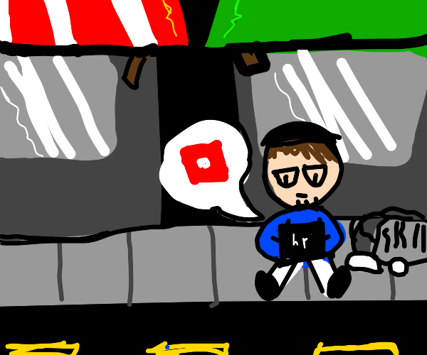 Homeless Man Plays Roblox Drawception