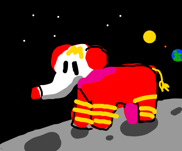 McDonald's elephant on the moon