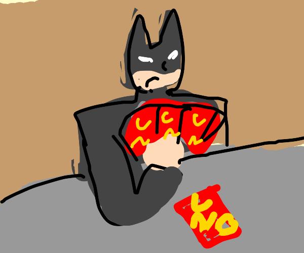 Batman plays UNO