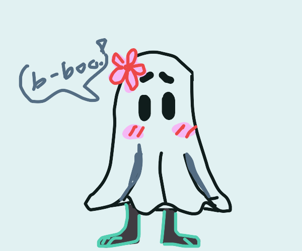 shy ghost tries to scare you