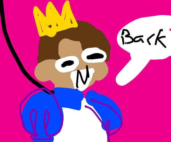 prince on a leash