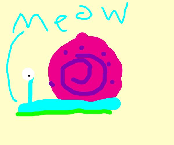 Gary the Snail says meow!
