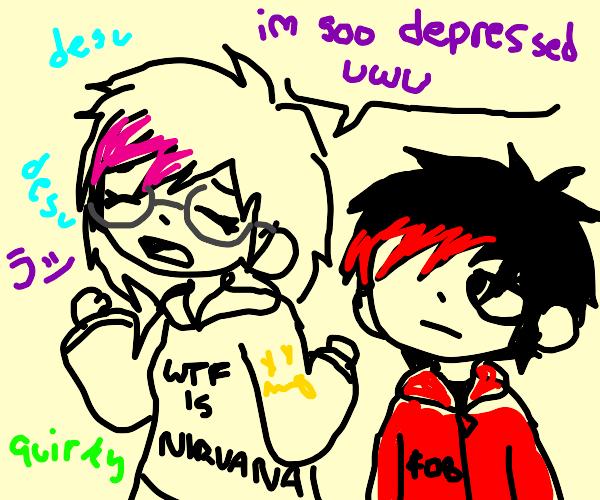 Depressed trash