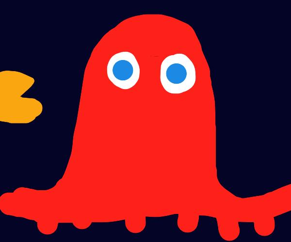 Fancy pacman ghost