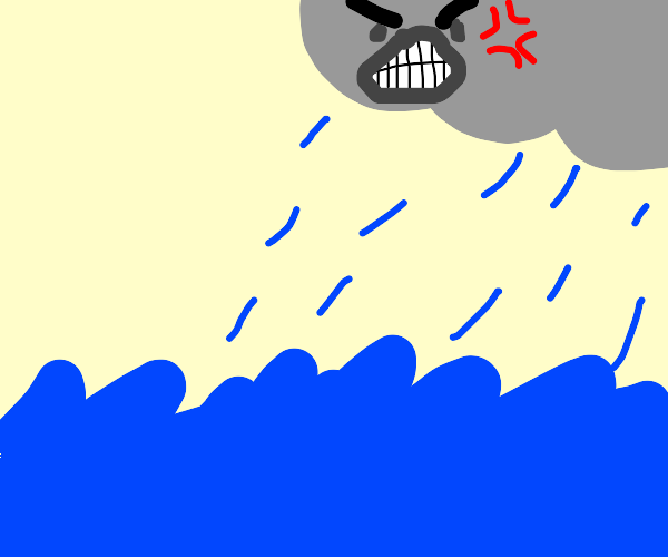 A Raging Storm on the Ocean