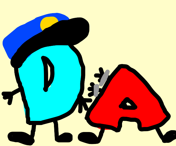 D is a police man and handcuffing A