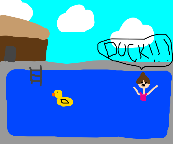 Duck in a pool