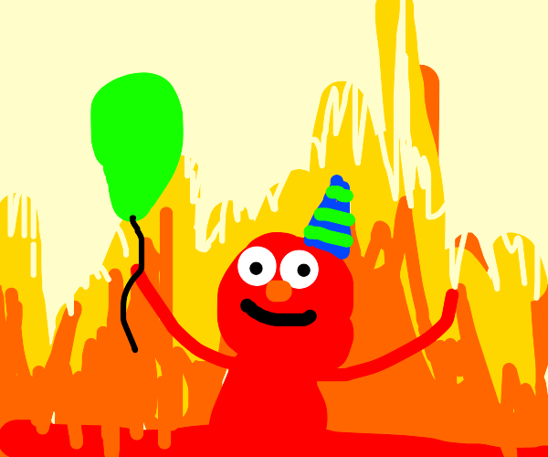Elmo is a party man