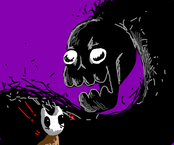 Shadow dude scares hollow knight