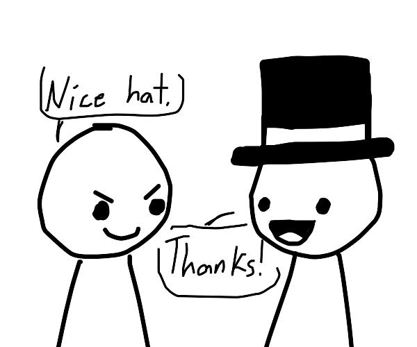 Haha funny hat