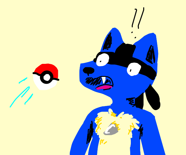 Catching lucario