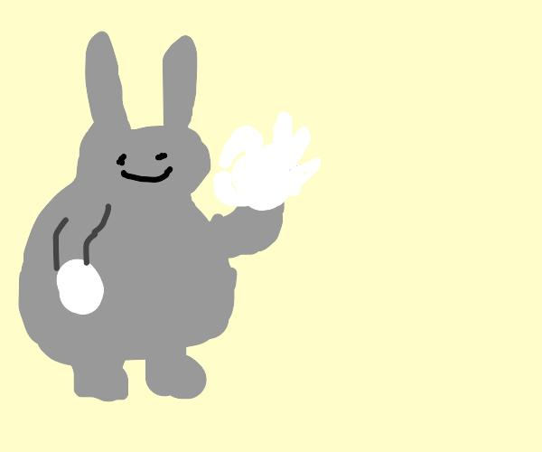 Chungus does the Ok hand gesture