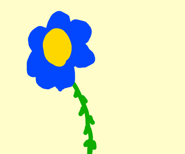 blue flower with thorns