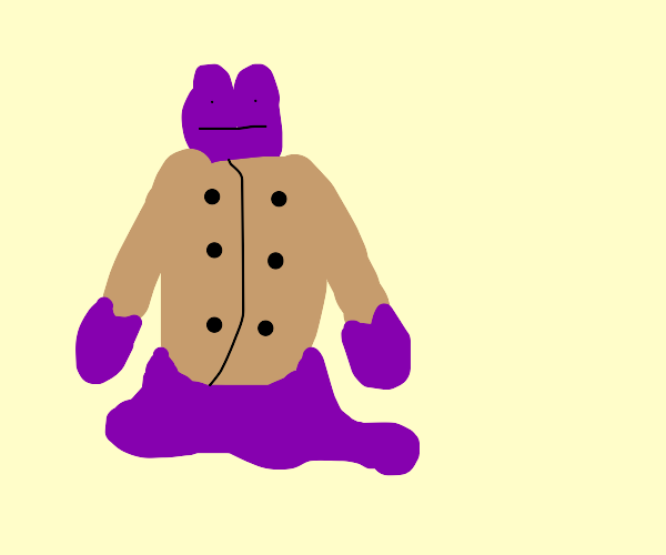 a ditto in a trench coat