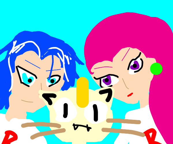 Team rocket and meowth