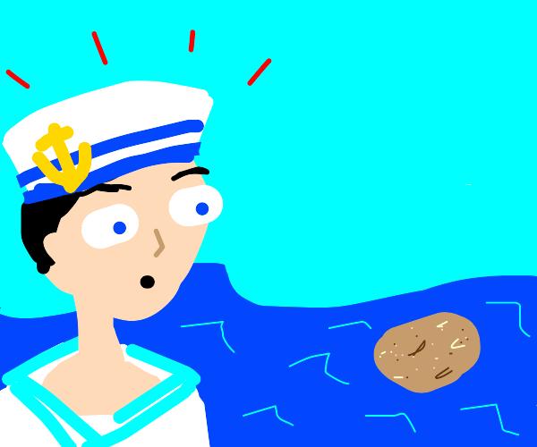 sailor notices potato