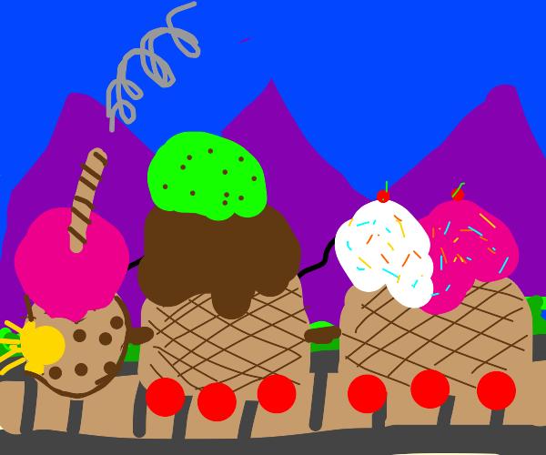 The ice cream train