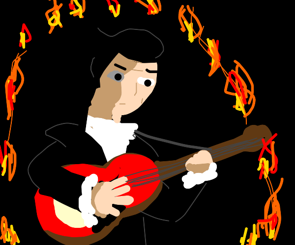Johnny Cash playing Ring of Fire in a ROF