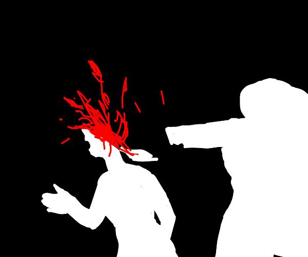 Sniper shot girls head off