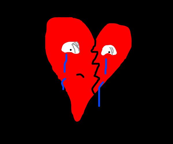 a sad broken heart :(
