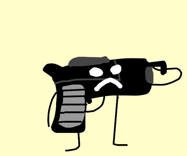 Suicide using a gun