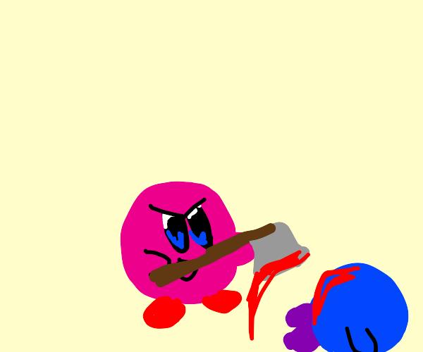 Kirby with an axe