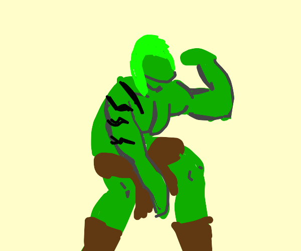 hulk but with long hair