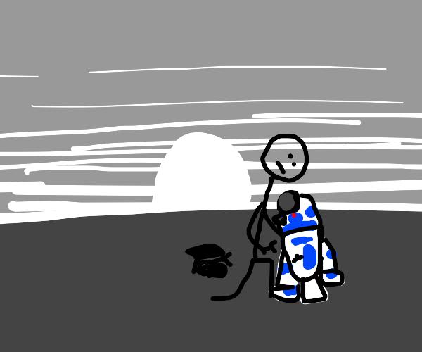 Stickman fixes R2D2