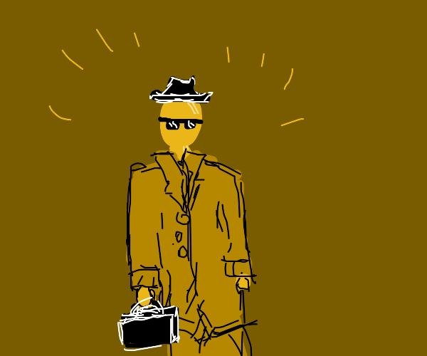 Golden dude with a hat