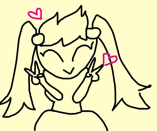 Anime girl loves you!