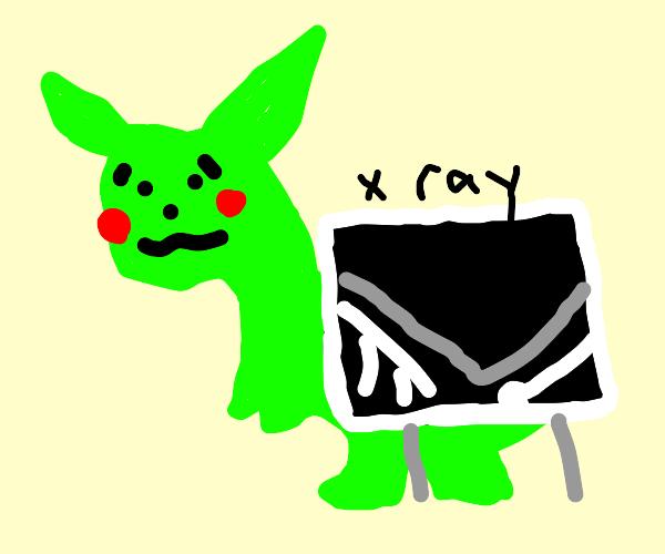 Green Pikasaur has boneitis