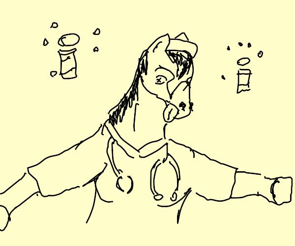 dead/comatose horse nurse
