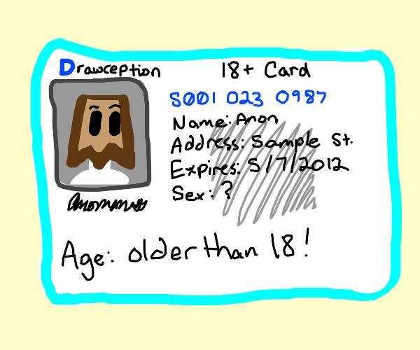 18+ card. Fake?