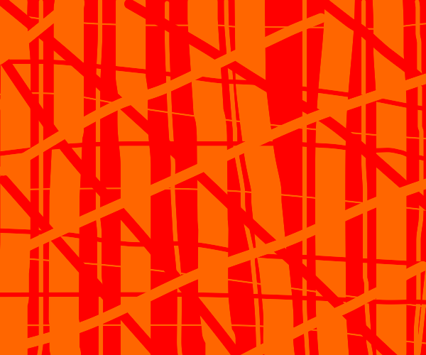 A bunch of red and orange lines