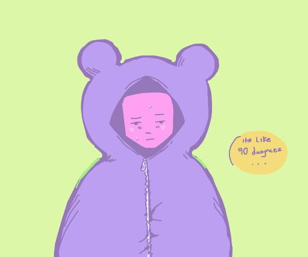 Man in bear suit