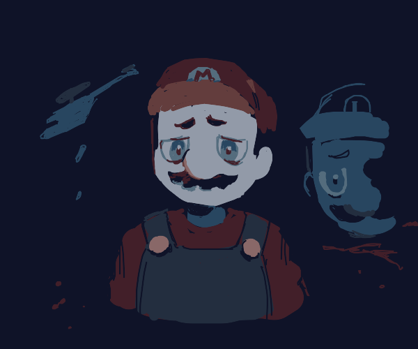 Mario's back from Vietnam. He looks okay.