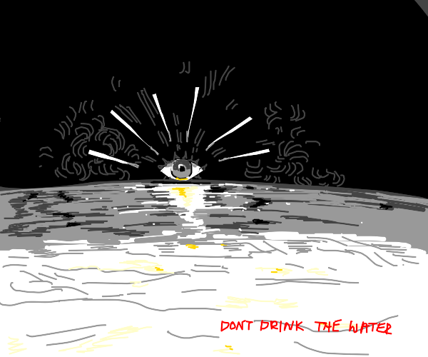eye sunrise tells you not to drink the water