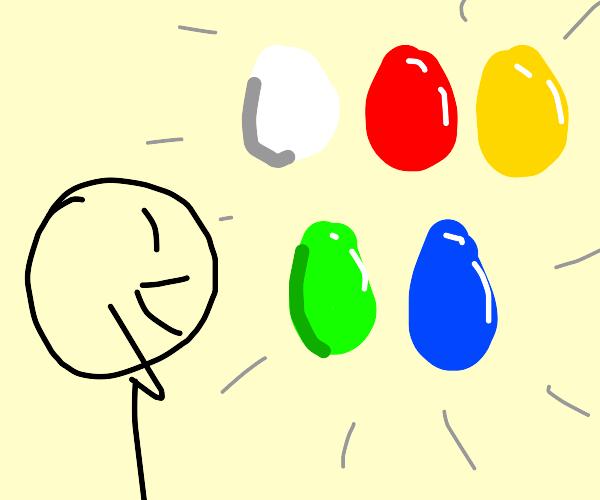 Boy finally found all five eggs