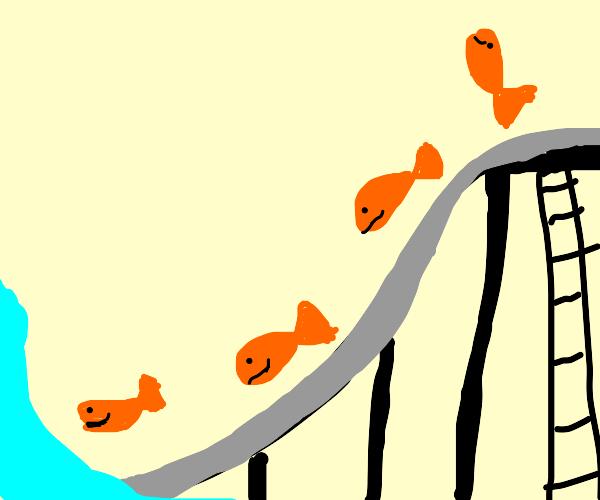 Goldfish slide