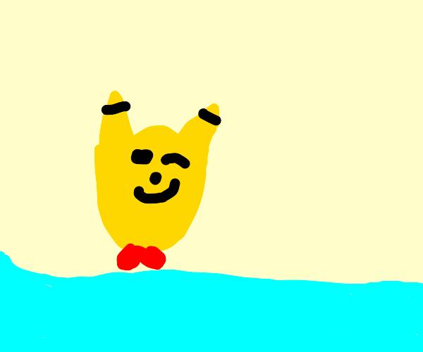 Inverse Pikachu winking